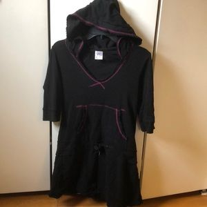 Other - Like-New 3/4 sleeve cotton w/hood cover up dress
